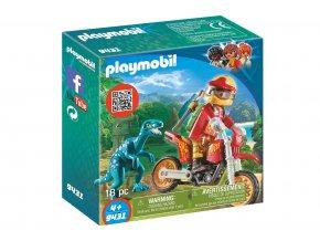 Playmobil 9431 Motorka s velociraptorem