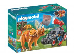 Playmobil 9434 Terénní auto se sítí na lov dinosaurů