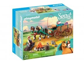 Playmobil 9477 Tatínek Jim a koňský povoz
