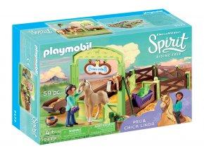Playmobil 9479 Koňský box - Pru & Chica Linda