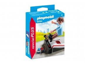 Playmobil 9094 Skateboardista s rampou