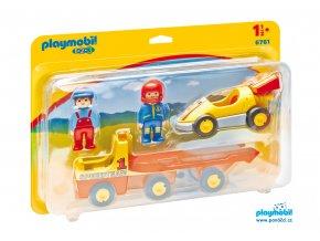 Playmobil 6761 Závoďák s transportérem 1.2.3