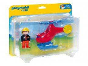 Playmobil 6789 Požární helikoptéra 1.2.3