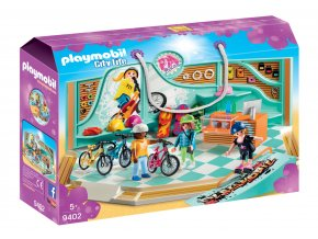 Playmobil 9402 Obchod s koly a skateboardy