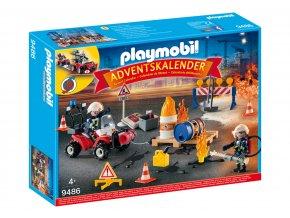 """Playmobil 9486 Adventní kalendář """"Hasičský zásah na staveništi"""""""