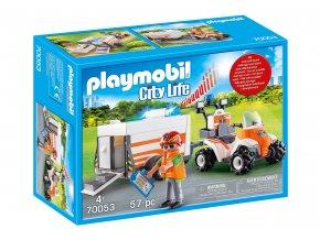 Playmobil 70053 Záchranářská čtyřkolka s přívěsem