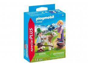Playmobil 70155 Děti s telátkem