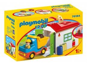 Playmobil 70184 Vyklápěcí auto s garáží