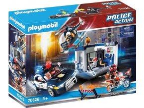 Playmobil 70326 Policie s autem a helikoptérou