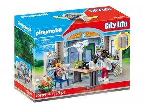 Playmobil 70309 Hrací box - Veterinární ordinace