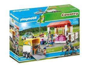 Playmobil 70325 Koňská farma s přepravním boxem