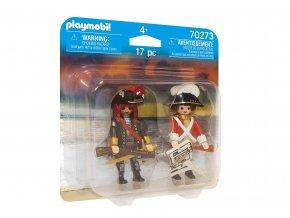 Playmobil 70273 DuoPack Kapitán pirátů a voják
