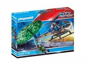 Playmobil 70569 Policejní vrtulník: Pronásledování padáku