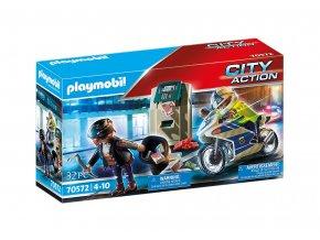 Playmobil 70572 Policejní motorka: Pronásledování lupiče