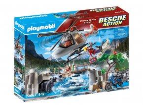Playmobil 70663 Nasazení helikoptéry v kaňonu