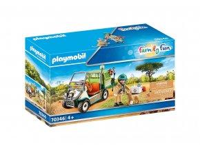 Playmobil 70346 Zvěrolékař v ZOO s autem