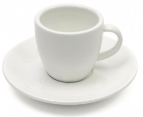 Espresso šálek s pošálkem