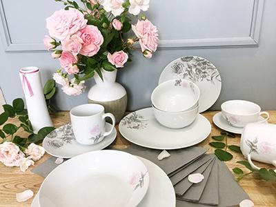 Kolekce porcelánu ROSE WHITE od by inspire
