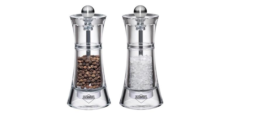 Akrylové mlýnky na pepř a sůl