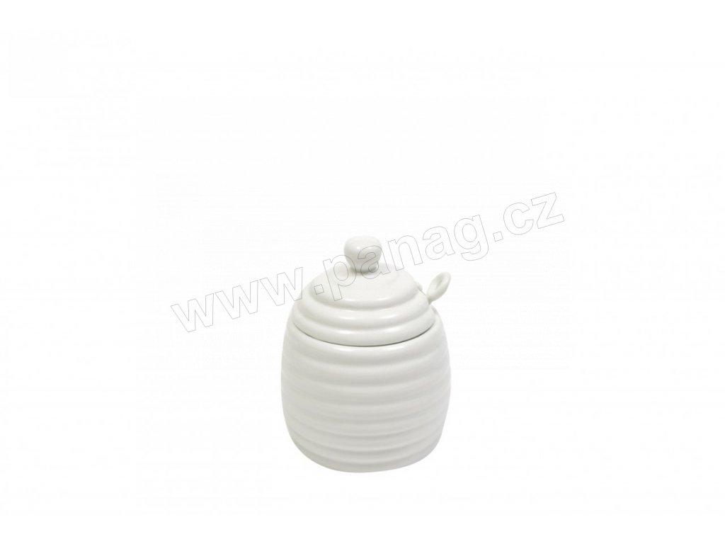 Porcelánová nádobka na med se lžičkou bílá - White Basic A - Maxwell&Williams