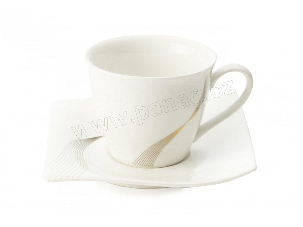 Porcelánový šálek s podšálkem 230 ml - Frequency  - Maxwell&Williams