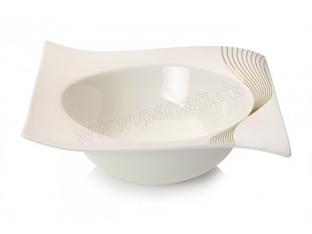 Porcelánová mísa čtvercová 23,5 cm - Frequency RP80223 - Maxwell and Williams