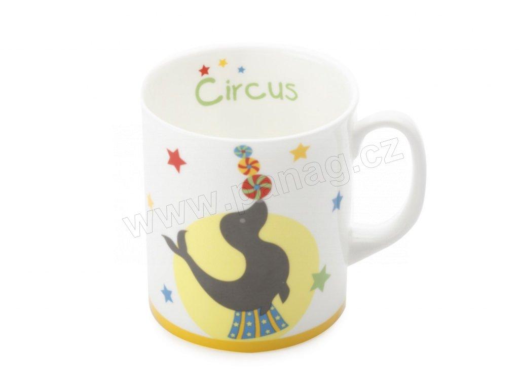 Porcelánový hrnek pro děti tuleň Childrens Circus - Maxwell Williams