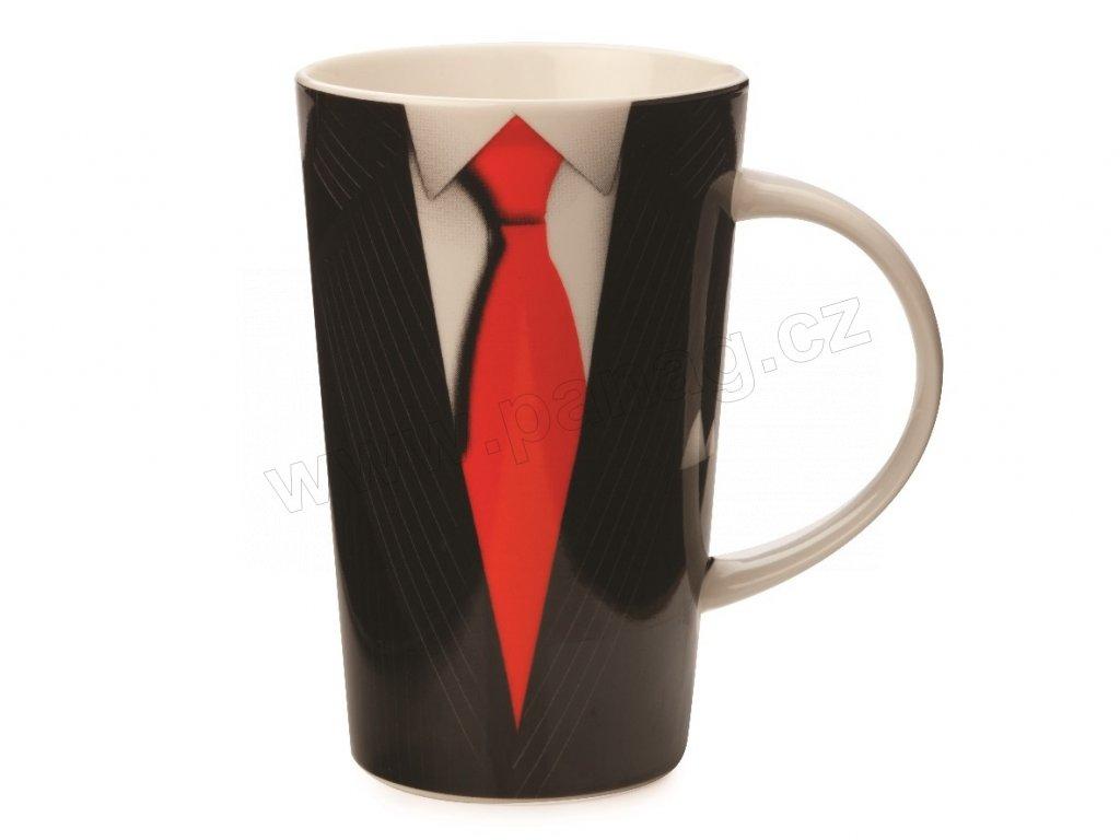 Porcelánový hrnek Black The Gengleman Conical Mug 420 ml - Maxwell&Williams
