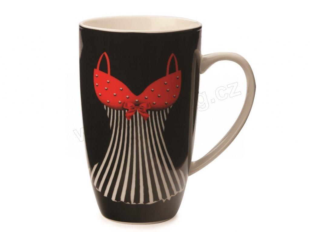 Porcelánový hrnek Mademoiselle Coupe Mug 420 ml Black - Maxwell&Williams