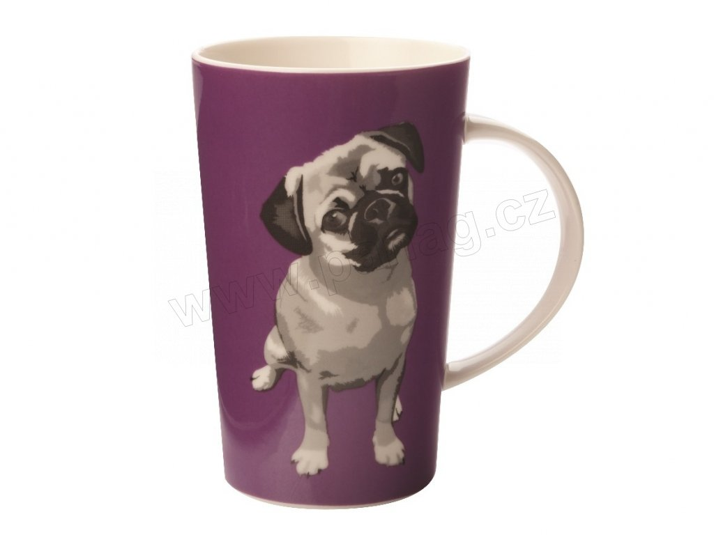 Porcelánový hrnek Paws Coupe Mug 420 ml Purple - Maxwell&Williams