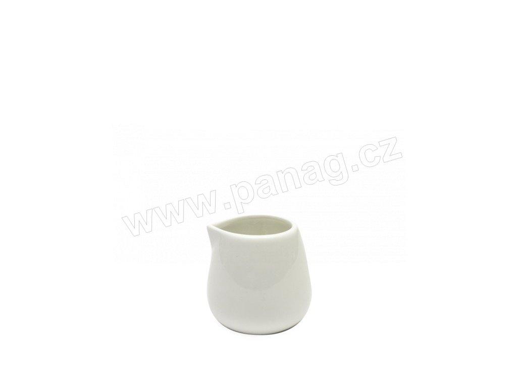 Konvička na mléko bez ouška 100 ml bílá - WHITE BASICS - Maxwell&Williams