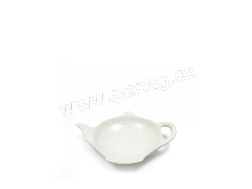 Miska na čajový sáček bílá - WHITE BASICS - Maxwell&Williams