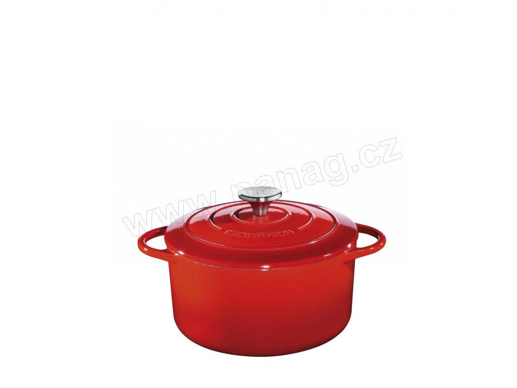 Litinový hrnec kulatý PROVENCE červený - 24 cm - Küchenprofi - 0401001424