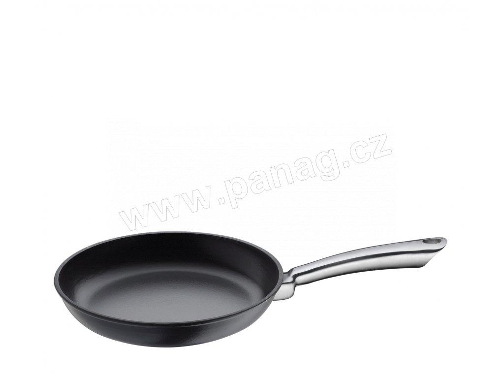 Litinová pánev s nerezovou rukojetí PROVENCE černá - 28 cm - Küchenprofi - 0403001028