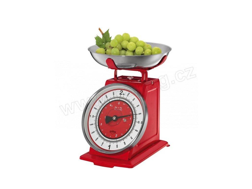 Kuchyňská váha nostalgie 21x20x25 cm, červená - Küchenprofi - 0903301400