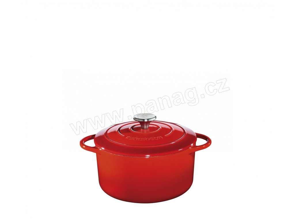 Litinový hrnec kulatý PROVENCE červený - 22 cm - Küchenprofi - 0401001422