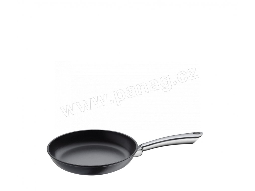 Litinová pánev s nerezovou rukojetí PROVENCE černá - 20 cm - Küchenprofi - 0403001020