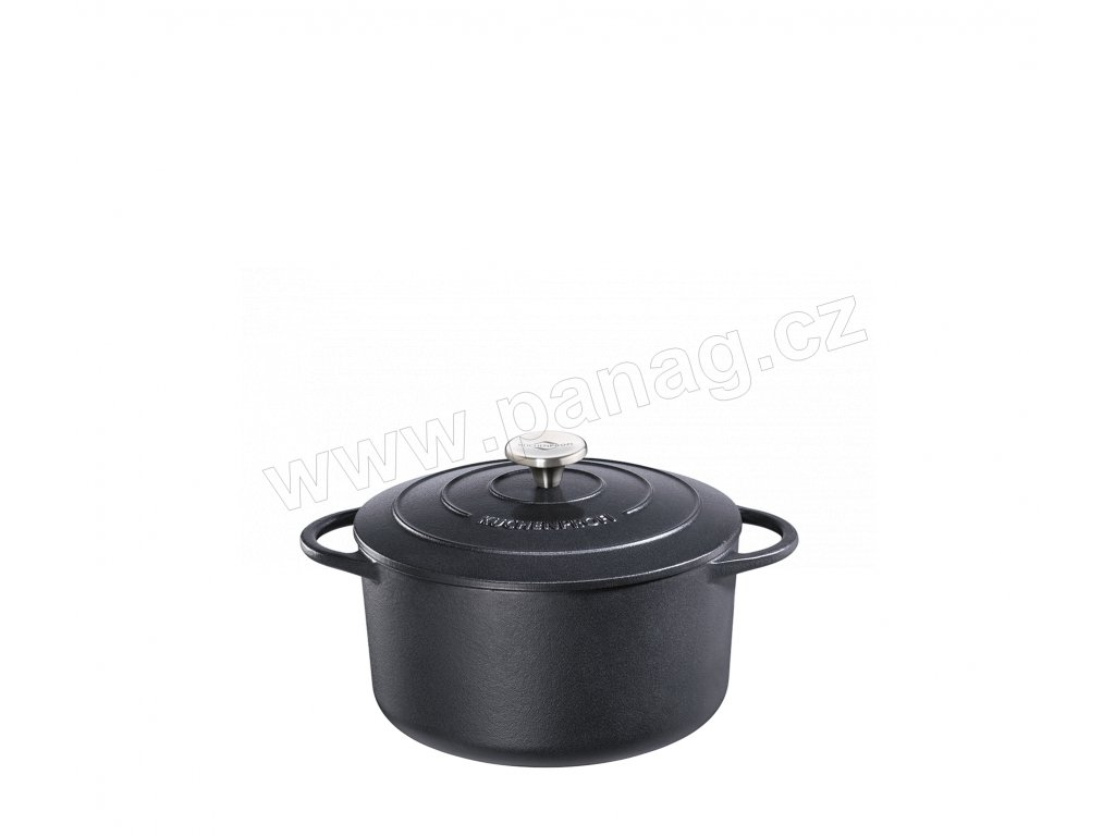 Litinový hrnec kulatý PROVENCE černý - 22 cm - Küchenprofi - 0401001022