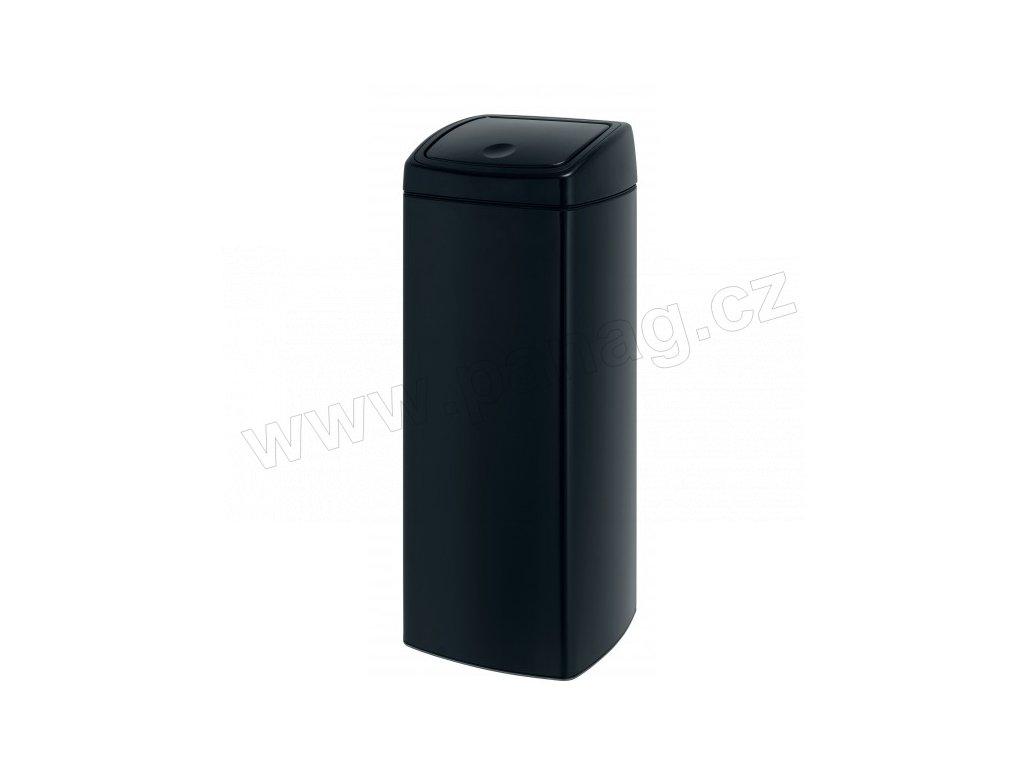 Koš Touch Bin® - 25 L - čtvercový , Matná černá