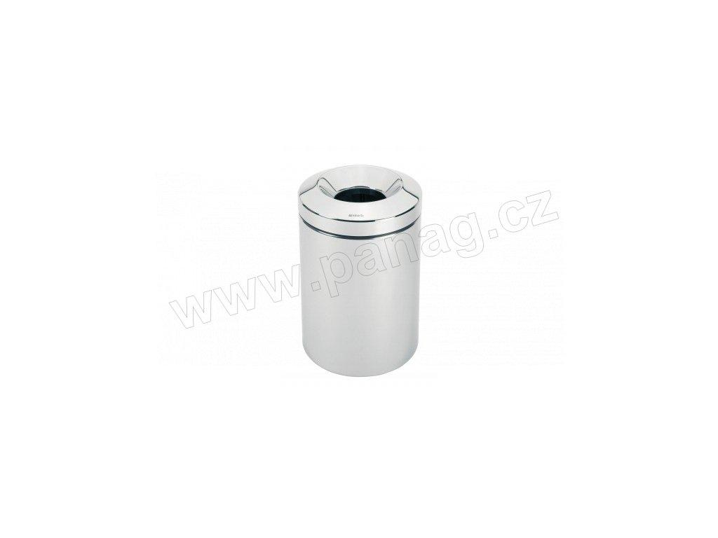 Koš - 15 L, nehořlavý, Lesklá ocel