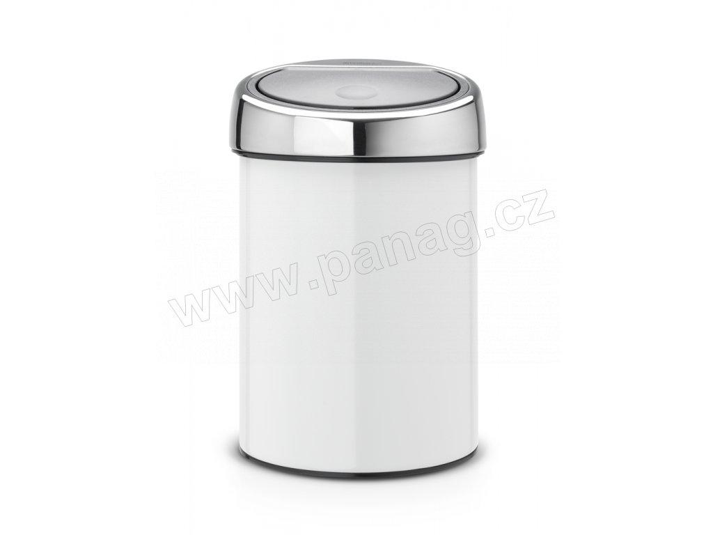 Koš Touch Bin® - 3 L , Bílá/ Lesk víko