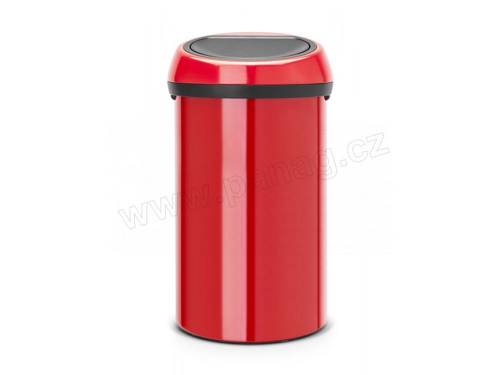 Koš Touch Bin - 60 L, Zářivě červená
