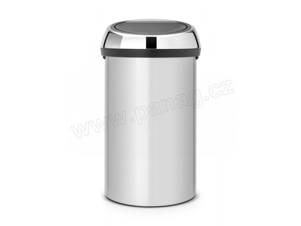 Koš Touch Bin - 60 L, Metalická šedá/Lesk víko