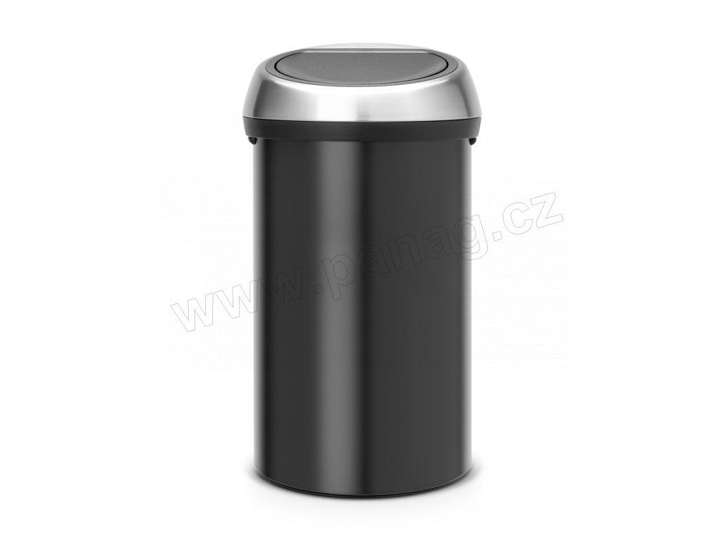 Koš Touch Bin - 60 L, Matná černá/FPP víko