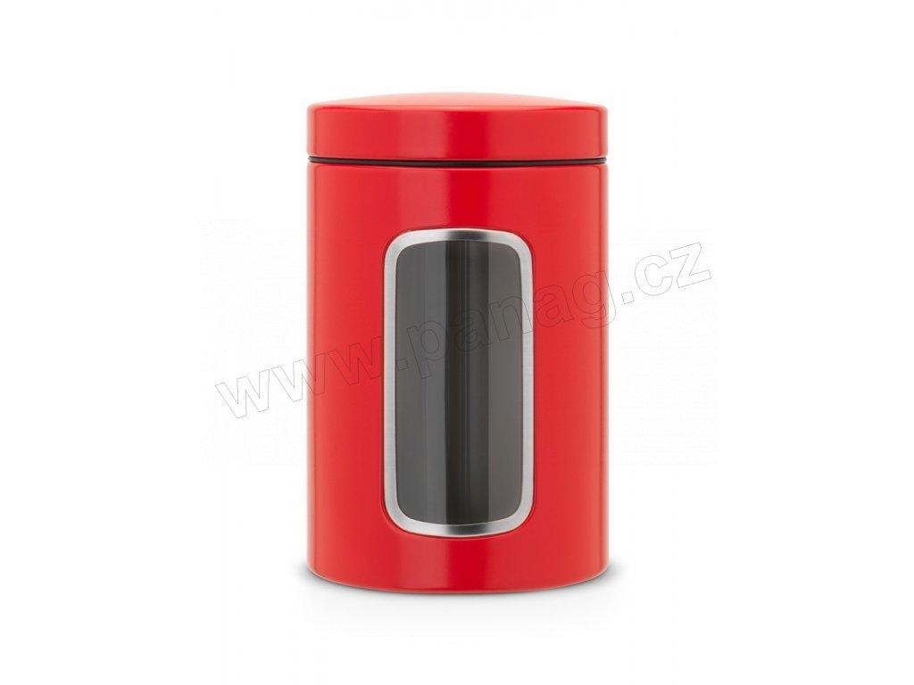 Dóza okénko 1,4 L Zářivě červená