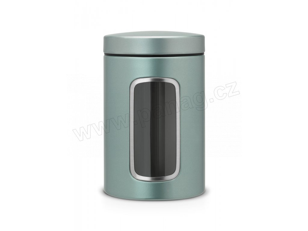 Dóza okénko 1,4 L Metalická mátová