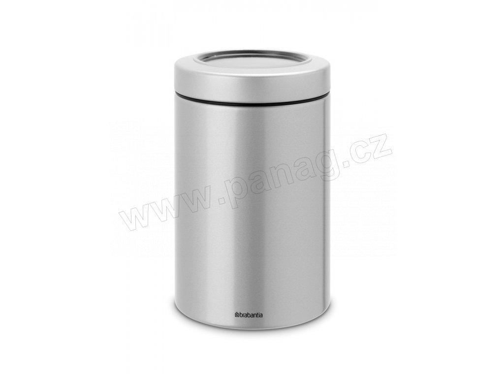 Dóza průhledné víko 1,4 L Metalická šedá