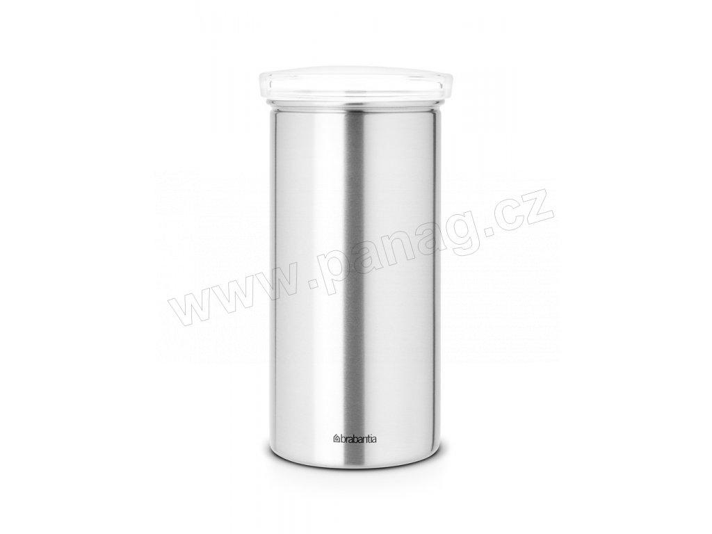 Dóza na kávové a čajové kapsle Transparentní víko / Matná ocel PFP