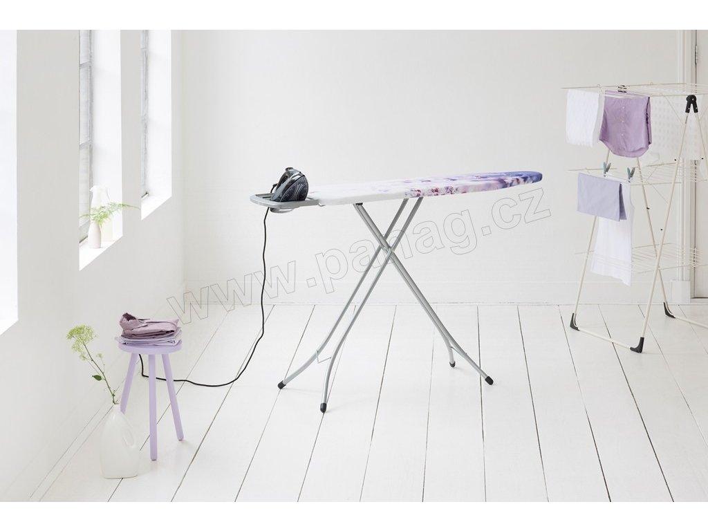 Žehlicí prkno Lavender, šedý rám 124 x 38 cm OP