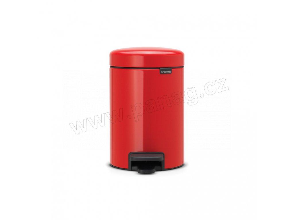 Pedálový koš 3 l newIcon zářivě červená od Brabantia